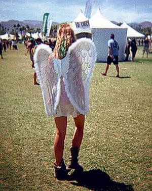 Festival fashion: Fairy wings at a festival
