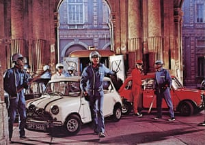 50 Years of the Mini: The film The Italian Job stars Michael Caine, Noel Coward and Benny Hill