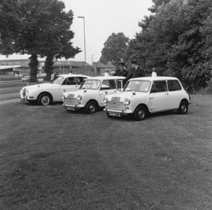 50 Years of the Mini: New police Austin mini-coopers lined up in June 1968