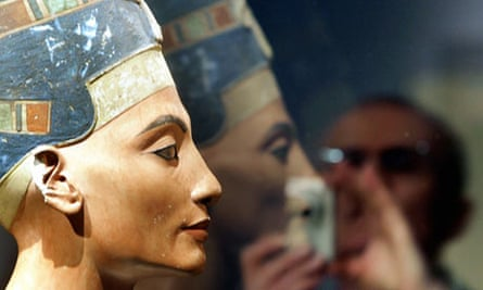 Nefertiti bust on display at Berlin's Kulturforum