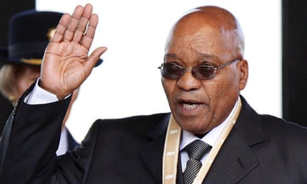 Jacob Zuma is sworn in as president of South Africa in Pretoria