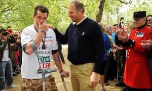 Phil Packer completes London Marathon