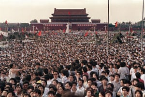 Tiananmen Square: Thousands of people gather in Tiananmen Square