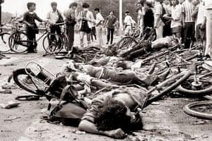 Tiananmen Square: The bodies of dead civilians lie near Beijing's Tiananmen Square