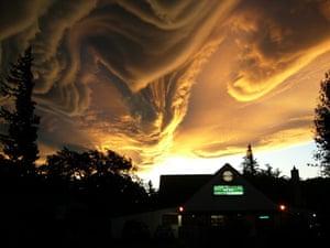 Asperatus cloud: Over Hanmer Springs, South Island New Zealand