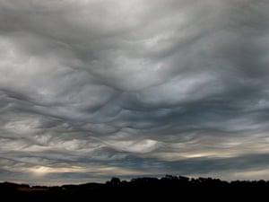 Asperatus cloud: Over Burnie, Tasmania, Australia