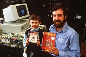 Tetris 25th anniversary: Aleksei Pazhitnov inventor of the computer game Tetris 1989