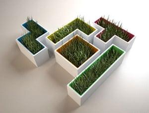 Tetris 25th anniversary: Tetris pots by French designer Stéphanie Choplin