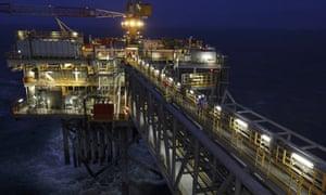 The Buzzard oil platform