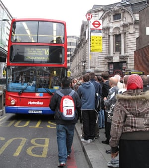 London underground strike: Commuters prepare to board a bus at London's Victoria Station