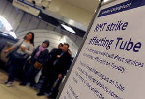 London underground strike: Commuters make their way home before the Tube strike in London