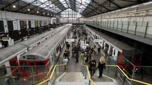London underground strike: Earl's Court Station just before the London underground goes on strike