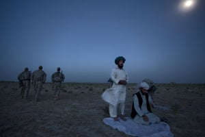 Sean Smith in Afghanistan: American soldiers with village elders praying