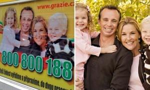 Smith family in Czech billboard ad