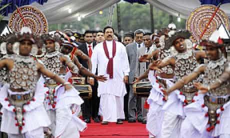 Sri Lanka's president, Mahinda Rajapakse