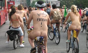 World Naked Bike Ride in London, 2007