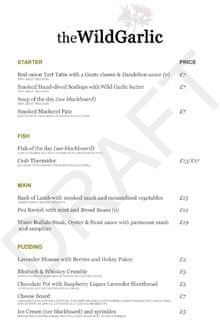 Mat Follas Wild Garlic draft menu