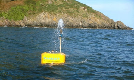 The Searaser uses the power of the ocean to pump water inland for electricity generation