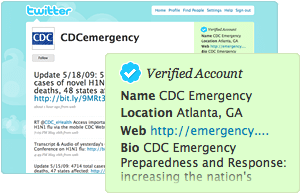Twitter verified account screen