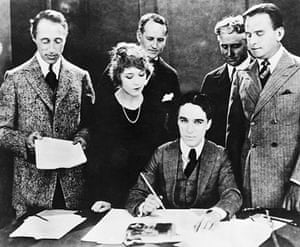 Hooray for hollywood: C-hCharlie Chaplin signs contract