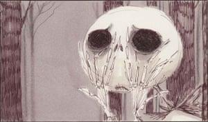 Tim Burton exhibit, Moma: 1993 Tim Burton's The Nightmare Before Christmas storyboard