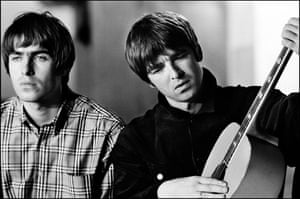 Jill Furmanovsky Oasis: Liam and Noel Gallagher on the set of Wonderwall