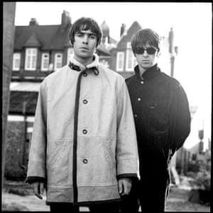 Jill Furmanovsky Oasis: Liam and Noel Gallagher on the set of Wonderwall video