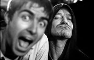 Jill Furmanovsky Oasis: Liam Gallagher and Bono