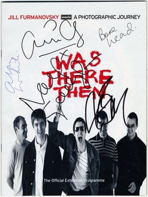 Jill Furmanovsky Oasis: Was There Then signed programme