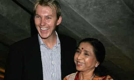 Asha Bhosle & Brett Lee Photo Call