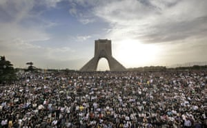 Eyewitness: Mousavi supporters protest the result of the election at a mass rally
