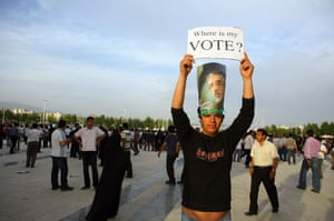 Iran protests: Iranians Protest President Mahmoud Ahmadinejad Re-Election