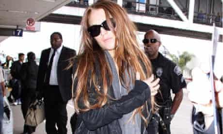 Lindsay Lohan arriving at Los Angeles International Airport, Los Angeles, America - 12 Jun 2009