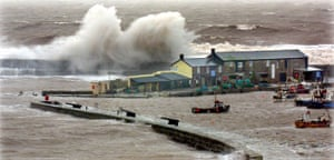 Extreme Weather: STORMY SEAS AT LYME REGIS, BRITAIN - 29 OCT 2004