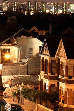 Extreme Weather: The damage to house in Kensal Rise in no