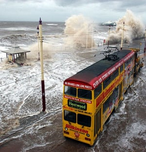 Extreme Weather:  gales and high tides batter Blackpool