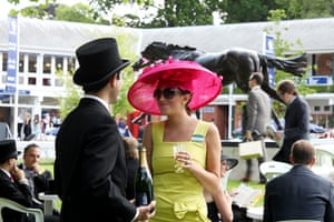 First day at Ascot: Spectators on the first day of Royal Ascot horse racing