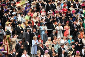 First day at Ascot: Racegoers in the stands