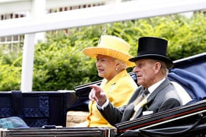 First day at Ascot: Queen Elizabeth ll and the Duke of Edinburgh