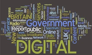 The government's Digital Britain report in Wordle form