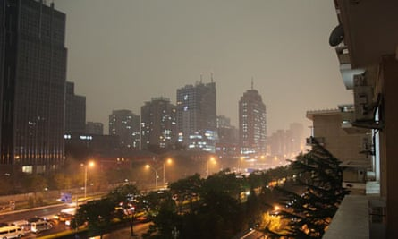 Beijing hit by ferious storm