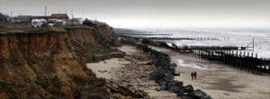 Extreme weather: COASTAL EROSION IN EAST ANGLIA, BRITAIN - NOV 2004