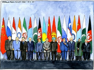 18.06.09: Steve Bell on Mahmoud Ahmadinejad's attendance of summit in Russia