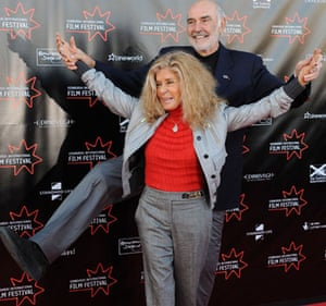 Away We Go in Edinburgh: Sir Sean Connery and wife Michelle at the Away We Go premiere