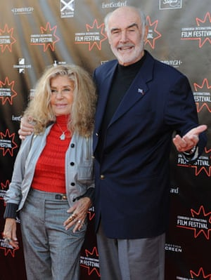Away We Go in Edinburgh: Sir Sean Connery and wife Micheline at the Away We Go premiere