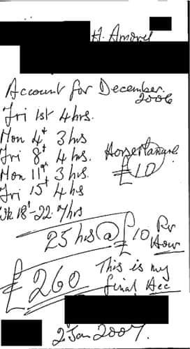 MPs' expenses receipts: Receipt from David Heathcoat-Amory MP