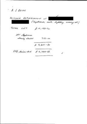 MPs' expenses receipts: Receipt from Alan Beith MP