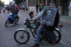 Iran demonstrations: A picture posted on TwitPic shows a family Mir Hossein Mousavi