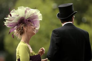 Ladies' Day at Ascot: Racegoers arrive in fashionable hats