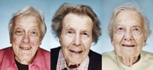 A celebration of old age: Wary Warnock, 85, Stephana Thomson, 87, and Jean Crossley, 100